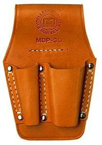 マーベル 高級牛皮 電工ポケット ペンチ差し 2丁 MDP-30