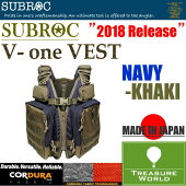 ●2018MODEL●SUBROC(サブロック)V-oneVEST(ヴィーワンベスト)NAVY/KHAKI【フィッシングベスト】【フローティングベスト】【ゲームベスト】