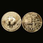 2枚セットゴールドビットコイン仮想通貨