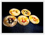 5枚セットゴールドビットコイン仮想通貨金運アップ