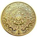 マヤ文明 アステカカレンダー コイン 直径40mm