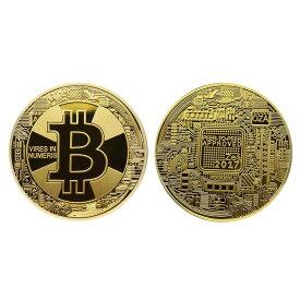 新 ビットコイン ゴールド bit coin 仮想通貨 メダル 金 プラスチックケース付き