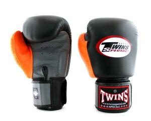TWINS SPECIAL ボクシンググローブ8oz 10oz 12oz 14oz 16oz オレンジ 黒/ボクシング/ムエタイ/グローブ/キック/フィットネス/本革製/ツインズ