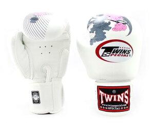 TWINS SPECIAL ボクシンググローブ6oz 8oz 10oz 12oz 14oz 16oz ホワイト ピンク 白  /ボクシング/ムエタイ/グローブ/キック/フィットネス/本革製/ツインズ