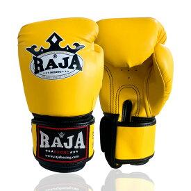 RAJA グローブ キックボクシング ボクシング 総合格闘技 テコンドー 空手 トレーニング 黄色 8oz 10oz 12oz 14oz 16oz