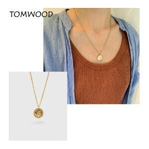 トムウッド(TOM WOOD) Coin Pendant Angel Gold Short コインペンダント ゴールド ブランド アクセサリー【2021ss】