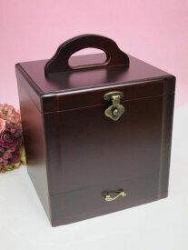 ポイント5倍!( コスメティックボックス ) メイクボックス 化粧箱 日本製 木製 ワインレッド 画プレゼント