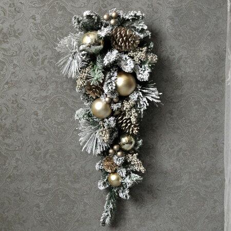 クリスマス MIXボタニカル ウォールデコレーション 壁飾り スワッグ リース 玄関飾り ドア飾り