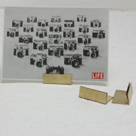 【ネコポス便送料無料】ブラス カードスタンド ワイド 幅広 カードホルダー セット(10個入)