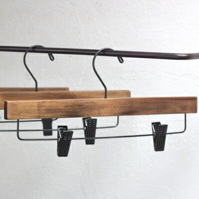 木製 ハンガー プレス ハンガー ロータス L スカート パンツ ハンガー