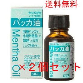 ハッカ油(20ml)×2個セット 送料無料 ミント 大洋製薬 お料理に、お風呂、虫よけ、マウスウォッシュ マスクに 消臭 定形外郵便にて当日発送。一滴ごとに出て、使いやすいタイプです。