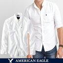 アメリカンイーグル メンズ シャツ 長袖 ボタンダウン ホワイト BIGSIZE オックスフォードシャツ ビジカジ アメカジ …