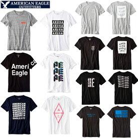 セール特価 メール便 送料無料 アメリカンイーグル メンズ 半袖 Tシャツ グラフィック アップリケ tシャツ サイズ ホワイト ブラック ネイビー 人気 ブランド アメカジ カジュアル おしゃれ かっこいい かわいい 夏物