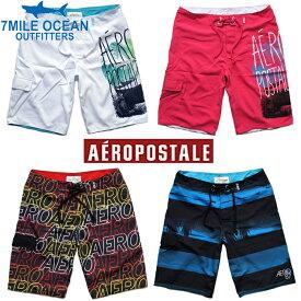 メール便 送料無料 エアロポステール AEROPOSTALE メンズ 水着 SWIM BEACH WEAR 海水パンツ ホワイト ブラック ブルー ピンク カジュアル アメカジ 通販