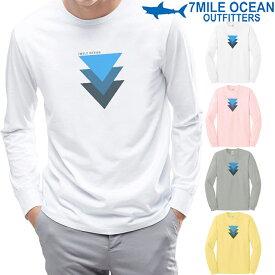 メンズ 長袖 tシャツ ロングTシャツ ロンTee 幾何学 模様 おもしろ 人気 ブランド プリント ロゴ アメカジ ストリート S M L XL XXL 大きい ビッグサイズ対応 ・H冬物