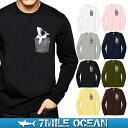 メール便 送料無料 7MILE OCEAN メンズ 長袖 tシャツ ロングTシャツ ロンT 無地 プリント ロゴ 胸ポケット シャーク …