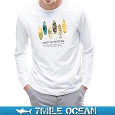 メール便送料無料7MILEOCEANメンズ長袖tシャツロングTシャツロンTeeパンダかわいいパロディーおもしろ人気ブランドプリントロゴアメカジストリートSMLXLXXL大きいビッグサイズ対応秋冬物05P06Aug16