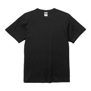 Tシャツ 半袖 メンズ バインダーネック ヘビー オープンエンド 6.0oz L サイズ ブラック