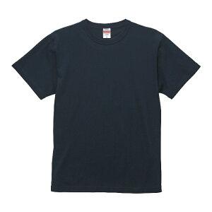Tシャツ 半袖 メンズ バインダーネック ヘビー オープンエンド 6.0oz L サイズ ディープネイビー