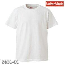 メンズTシャツ半袖無地ホワイトLサイズプレーン5.6オンスヘビーウエイトUnitedAthleCAB