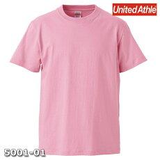 メンズTシャツ半袖無地ピンクLサイズプレーン5.6オンスヘビーウエイトUnitedAthleCAB