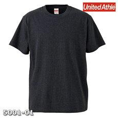 メンズTシャツ半袖無地ダークヘザーネイビーLサイズプレーン5.6オンスヘビーウエイトUnitedAthleCAB