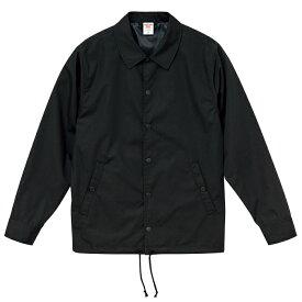 コーチジャケット T/C ツイル メンズ 裏地付 XXL サイズ ブラック ビック 大きいサイズ