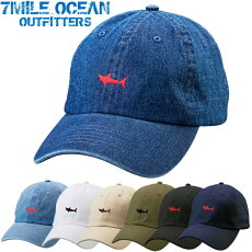 7MILEOCEANメンズキャップ帽子CAPワンポイントロゴ刺繍人気ブランドアメカジアウトドアストリート白グレーブルージュニアメール便送料無料
