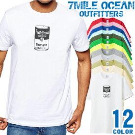 7MILE OCEAN Tシャツ メンズ 半袖 カットソー アメカジ トマト缶 定番 USA 人気ブランド アウトドア ストリート 大き目 大きいサイズ ビックサイズ対応 12色