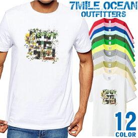 7MILE OCEAN Tシャツ メンズ 半袖 カットソー アメカジ ガーリー キュート 花柄 人気ブランド アウトドア ストリート 大き目 大きいサイズ ビックサイズ対応 12色
