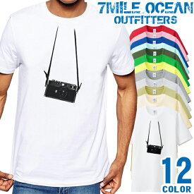 7MILE OCEAN Tシャツ メンズ 半袖 カットソー アメカジ カメラ APS 写真 おもしろ だまし絵 人気ブランド アウトドア ストリート 大き目 大きいサイズ ビックサイズ対応 12色