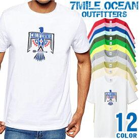 7MILE OCEAN Tシャツ メンズ 半袖 カットソー アメカジ インディアン ネイティブ チマヨ柄 イーグル 人気ブランド アウトドア ストリート 大き目 大きいサイズ ビックサイズ対応 12色