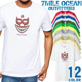 7MILE OCEAN Tシャツ メンズ 半袖 カットソー アメカジ プロレス マスクマン おもしろ 人気ブランド アウトドア ストリート 大き目 大きいサイズ ビックサイズ対応 12色
