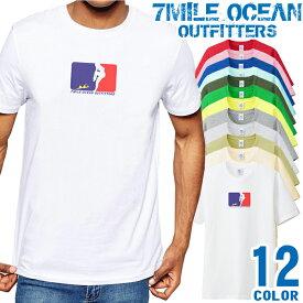 7MILE OCEAN Tシャツ メンズ 半袖 カットソー アメカジ エロかわパロディー 人気ブランド アウトドア ストリート 大き目 大きいサイズ ビックサイズ対応 12色