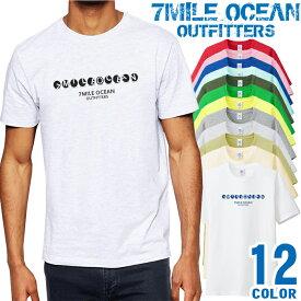 7MILE OCEAN Tシャツ メンズ 半袖 カットソー アメカジ シンプル ワンポイント シンプル 人気ブランド アウトドア ストリート 大き目 大きいサイズ ビックサイズ対応 12色