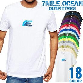 7MILE OCEAN Tシャツ メンズ 半袖 カットソー アメカジ サーフィン フィシング ダイビング 人気ブランド アウトドア ストリート 大き目 大きいサイズ ビックサイズ対応 18色