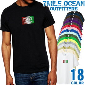 7MILE OCEAN Tシャツ メンズ 半袖 カットソー アメカジ ロゴ イタリア デザイン 人気ブランド アウトドア ストリート 大き目 大きいサイズ ビックサイズ対応 18色