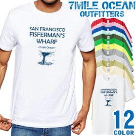 メンズ Tシャツ 半袖 プリント アメカジ 大きいサイズ 7MILE OCEAN クジラ
