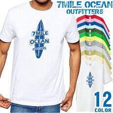 メンズTシャツ半袖プリントアメカジ大きいサイズ7MILEOCEANサーフィン