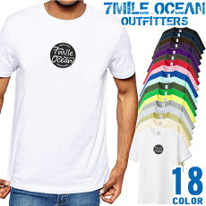メンズTシャツ半袖プリントアメカジ大きいサイズ7MILEOCEANロゴワンポイント
