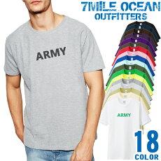 メンズTシャツ半袖プリントアメカジ大きいサイズ7MILEOCEANARMY