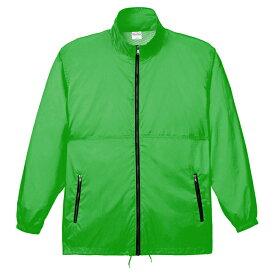 メンズ コート ジャケット アクティブコート 無地 蛍光グリーン M サイズ 033-AC