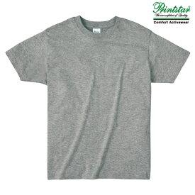 メンズ ビックサイズ 大きいサイズ tシャツ 半袖 ライトウェイト 4.0オンス 無地 杢グレー XL サイズ 083-BBT