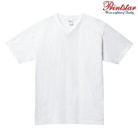 メンズ Tシャツ 半袖 Vネック ヘビーウェイト 5.6オンス 無地 ホワイト M サイズ 108-VCT