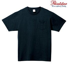 メンズ Tシャツ 半袖 ポケット付き ヘビーウェイト 5.6オンス 無地 ネイビー L サイズ 109-PCT