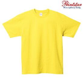 メンズ レディース キッズ Tシャツ 半袖 鹿の子 5.8オンス 無地 イエロー SS サイズ 117-VPT