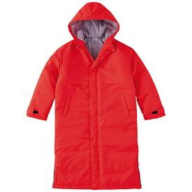 メンズ コート ジャケット ベンチコート 無地 レッド L サイズ 230-ABC