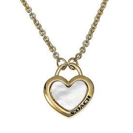 コーチ ネックレス ペンダント COACH Pearl Heart Necklace F7111GDWHT アウトレットコーチ コーチジュエリー