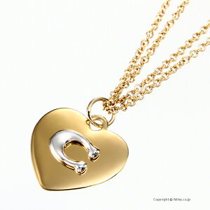 COACH コーチ ネックレス C Logo Heart Necklace ペンダント 6063 GD/SV