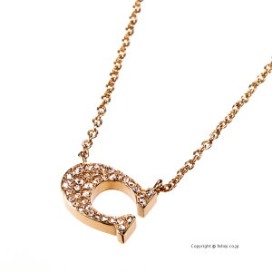 COACH コーチ ネックレス Signature Pave Necklace ペンダント 91433 RGD